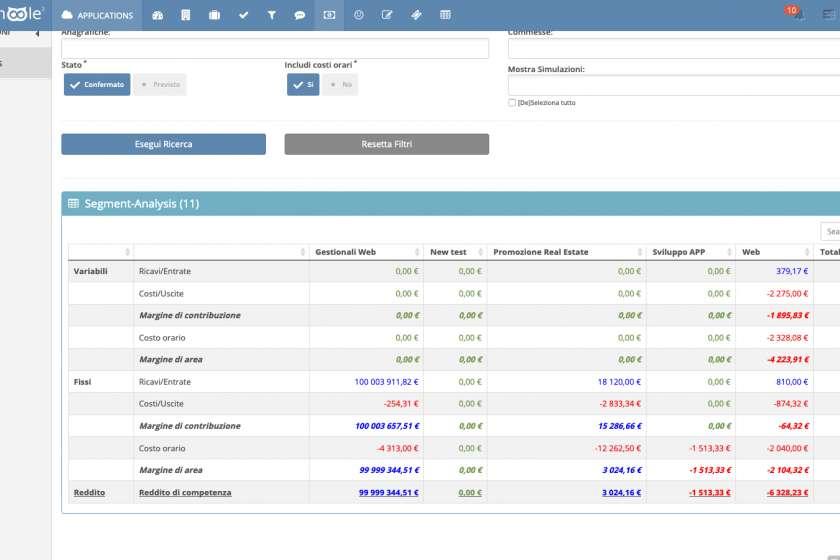 Segment-Analysis / Conto Economico per area di commessa